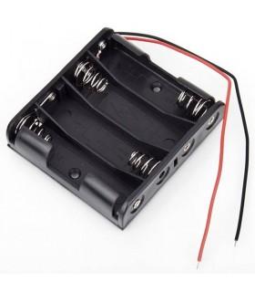 Adattatore 4 x AA-Porta batterie in serie
