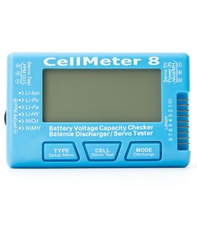 Cellmeter 8-Tester digitale multifunzionale con Servo Checker