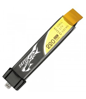 Tattu 220mAh 3.7V 45C 1S1P Lipo Battery Pack-Tiny Whoop-EFLITE MSR-Nano CPX