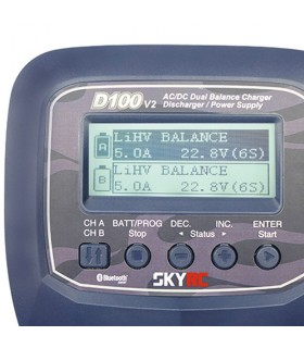 SkyRC D100 V2-2x100W Carica Batterie LiPo-AC Balance Charger Discharger