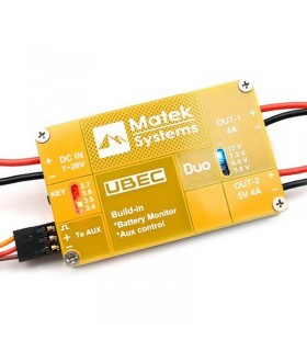 Matek - UBEC DUO - 4A/5~12V & 4A/5V - Regolatore step-down