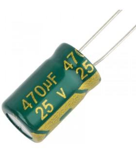 25V 470uF - Condensatore Elettrolitico - Alta Frequenza-105°-LOW ESR