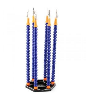 Supporto Terza Mano a 6 bracci flessibili e base in alluminio CNC