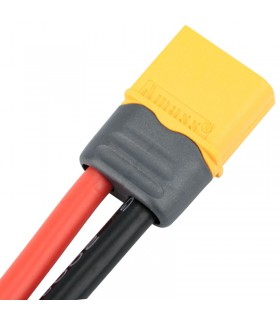 XT60-AWG 12-Connettore maschio-cavo in silicone AWG 12-10cm