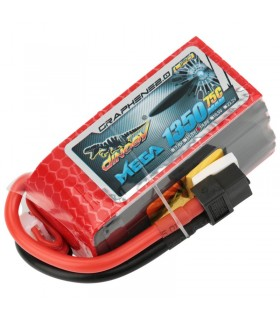 Dinogy Mega Graphene 4S 1350mAh 75C - LiPo Battery