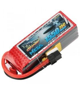 Dinogy Mega Graphene 4S 1550mAh 75C - LiPo Battery