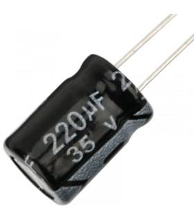 35V 220uF - Condensatore Elettrolitico - Alta Frequenza-105°