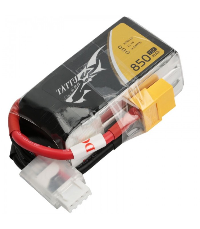 Tattu 850mAh 75C 3S1P 11.1V Lipo Battery Pack