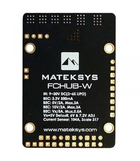 Matek Fixed Wing PDB FCHUB-W-3S-6S-Dual BEC-Current SENSOR