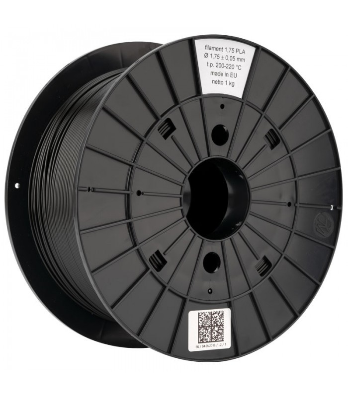 Black PLA 3D Original PRUSA Filament-1Kg-1,75mm