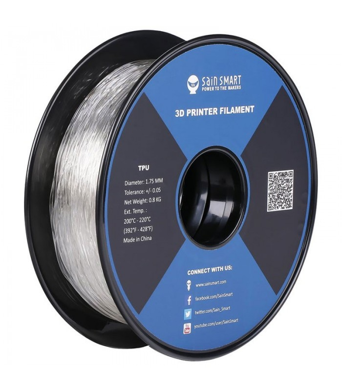 Sain Smart TPU Trasparente - Flexible Filament 1.75mm 0.8kg/1.76lb