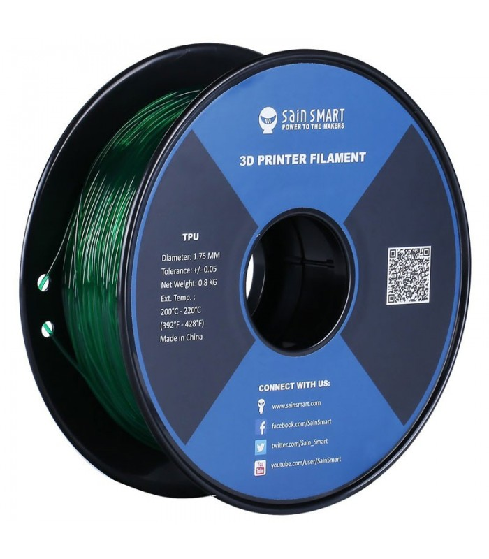 Sain Smart TPU Emerald - Flexible Filament 1.75mm 0.8kg/1.76lb