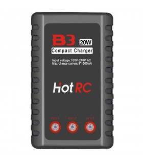HOTRC B3 Compact Charger - 20W 2S-3S - Carica Batterie LiPo