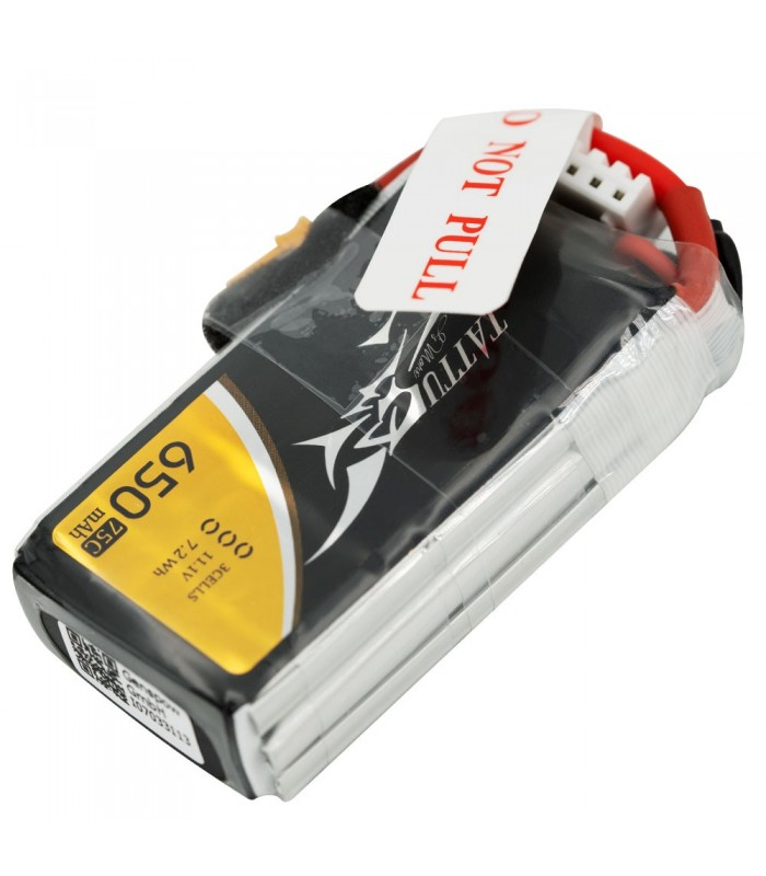 Tattu 650mAh 75C 3S1P 11.1V Lipo Battery Pack