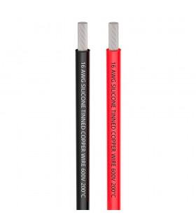 AWG16 - Cavo in Silicone altamente flessibile - 1m Rosso + 1m Nero