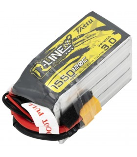 6S-1550mAh-120C - Tattu R-Line V3.0 Lipo Battery Pack - 22.2V - XT60