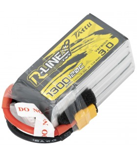 6S-1300mAh-120C - Tattu R-Line V3.0 Lipo Battery Pack - 22.2V - XT60