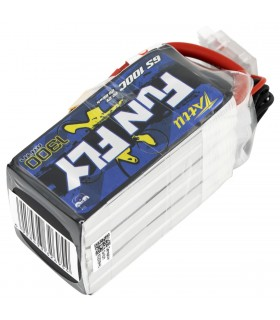 6S-1300mAh-100C - Tattu FunFly Lipo Battery Pack - 22.2V-XT60