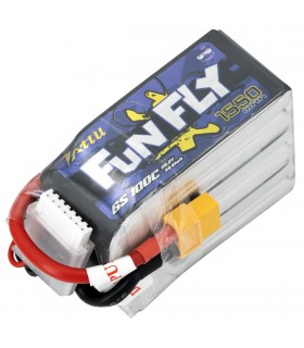 6S-1550mAh-100C - Tattu FunFly Lipo Battery Pack - 22.2V-XT60