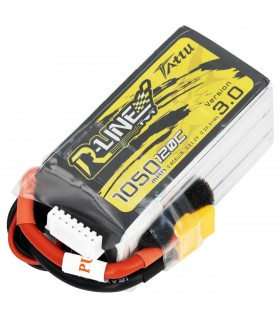 6S-1050mAh-120C - Tattu R-Line V3.0 Lipo Battery Pack - 22.2V - XT60