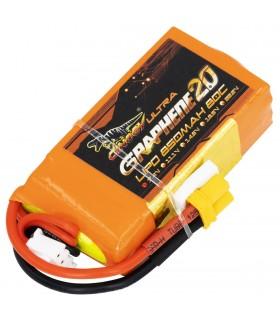 2S-850mAh-80C - Dinogy Ultra Graphene - Batteria LiPo