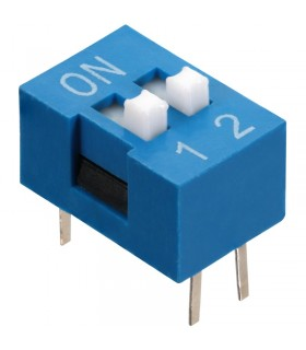DIP Switch a 2 contatti passo 2,54mm - Interruttore - Commutatore