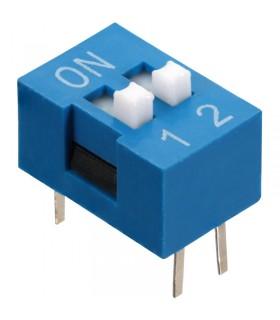 DIP Switch a 2 contatti passo 2,54mm - Interruttore - Commutatore