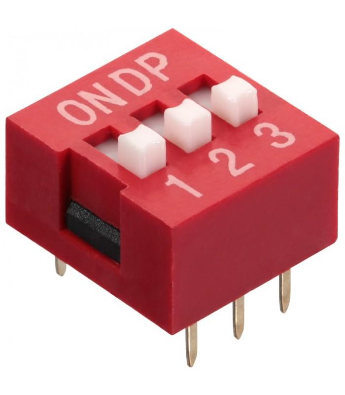 DIP Switch a 3 contatti passo 2,54mm - Interruttore - Commutatore