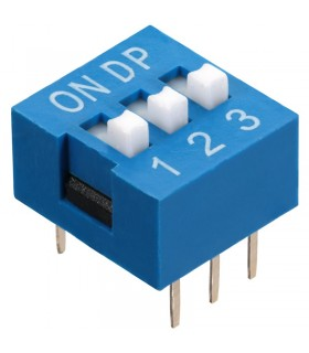 DIP Switch a 3 contatti passo 2,54mm - Interruttore - Commutatore