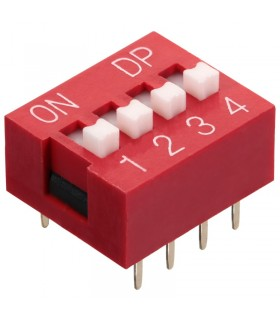 DIP Switch a 4 contatti passo 2,54mm - Interruttore - Commutatore