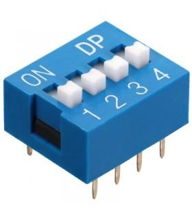 DIP Switch a 4 contatti passo 2,54mm - Interruttore - Commutatore