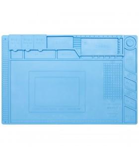 Tappeto da lavoro in Silicone 45x30 - Resistente al calore - Area Magnetica