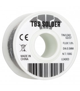 TBS Solder 0.5mm - 100g - Stagno professionale 63/37 - Flux 1.8%