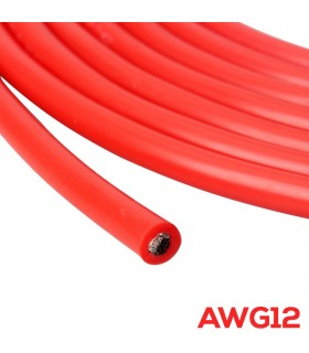 2m - AWG12 - Cavo in Silicone altamente flessibile - 1m Rosso + 1m Nero