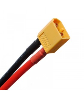 XT60 - AWG 12 - Connettore XT60 con cavo in silicone AWG 12 - 10cm