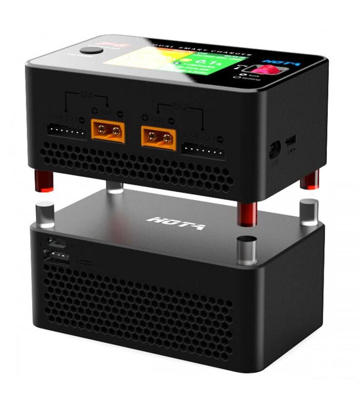 Hota P6 - 600W 15Ax2 - Dual Channel - Carica Batterie e Bilanciatore