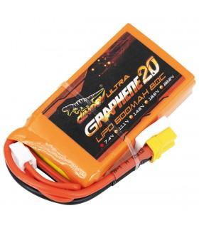 2S-600mAh-80C - Dinogy Ultra Graphene - Batteria LiPo