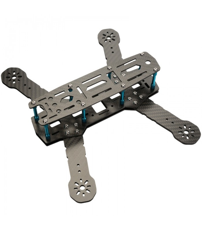 ZMR250 TANK - Bracci 4mm Carbonio 3K e piastre da 2mm - Telaio per droni da 250mm - FPV
