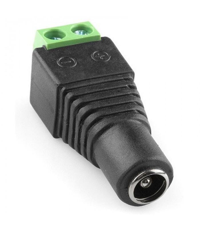 Connettore 2,1*5,5 mm femmina con morsetto