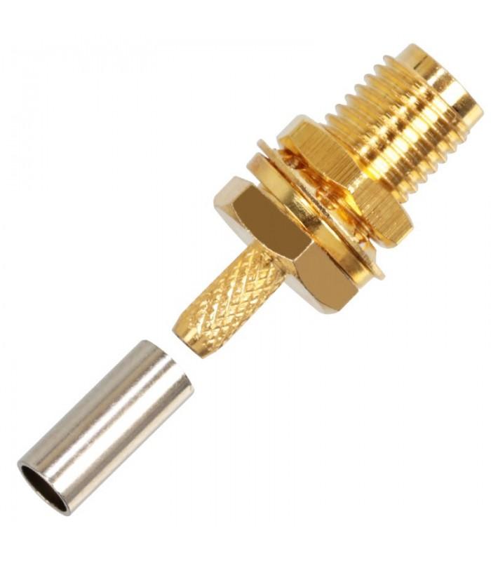 Connettore SMA da Crimpare / Saldare - Cavo RG316-RG174-LMR100